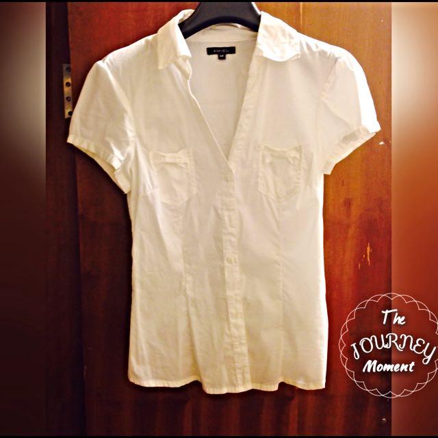Amisu 白色短袖襯衫