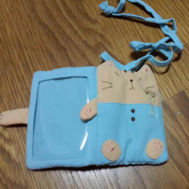 卡拉貓證件萬用小包(Baby 藍)