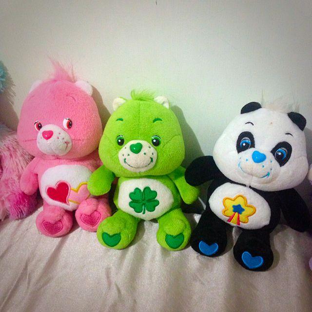 「二手」carebears 幸運草、愛心、熊貓