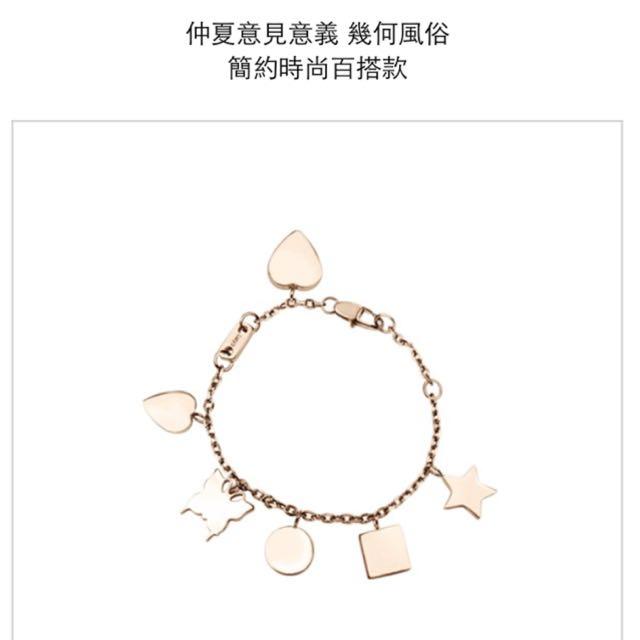 Lucy's百搭幾何手鍊(玫瑰金)