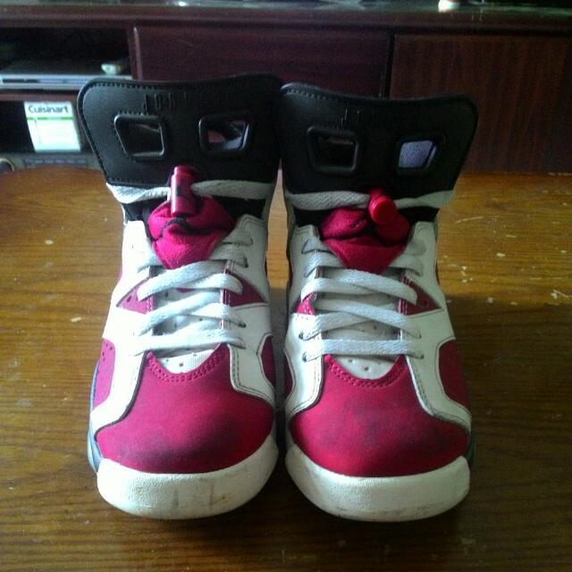 Nike Air Jordan6 Retro Gs 胭脂紅 女鞋