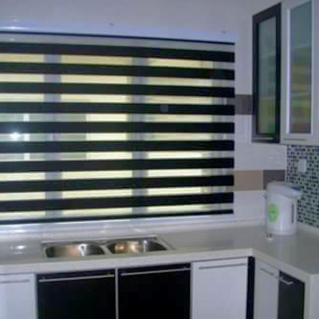 Roller Blind Home Furniture On Carou Untuk Tingkap Dapur Desainrumahid