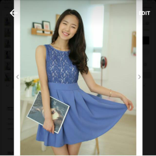 Zalora Lavender Fit And Flare Dress