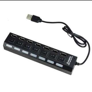 7 Port USB Hub With individual On/off Switch
