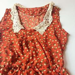 復古小橘洋裝