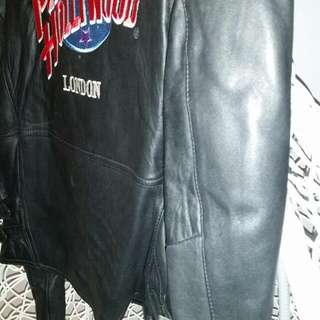 Leather Biker Jacket.