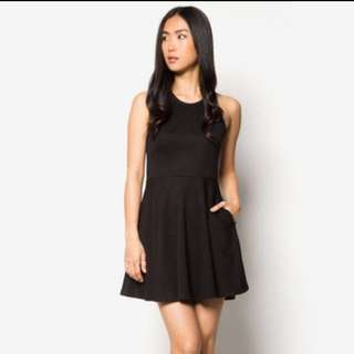 Halter Neck Fit And Flare Dress Zalora