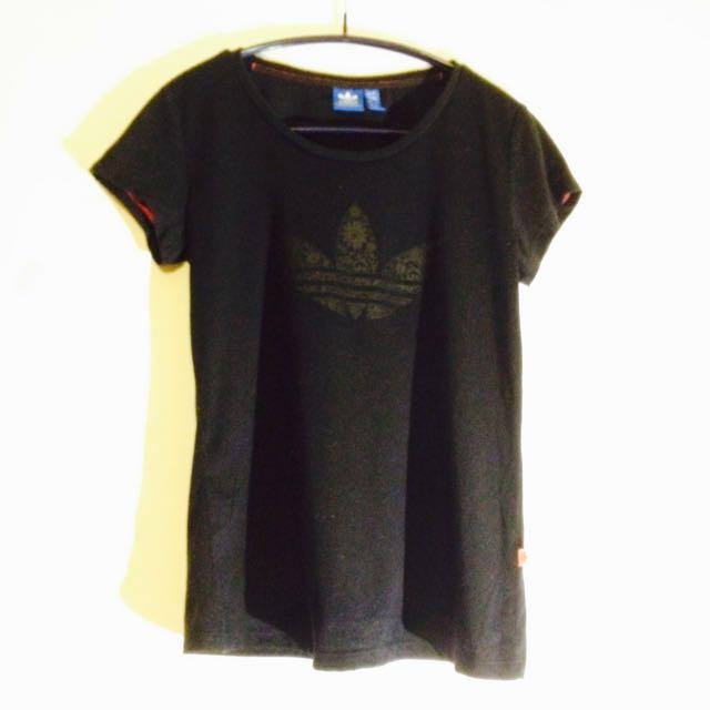 *adidas*黑色T-Shirt#二手商品