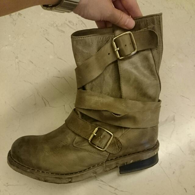Jeffery Campbell Brit繞帶靴