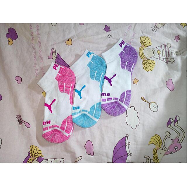 降💸全新正品puma襪子👣 粉/藍/紫