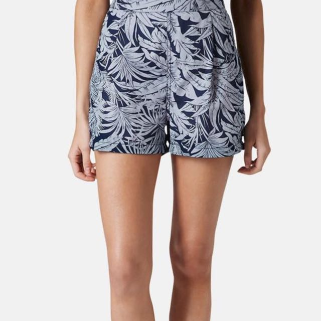 Topshop Tropical Print Blue Shorts (Authentic)