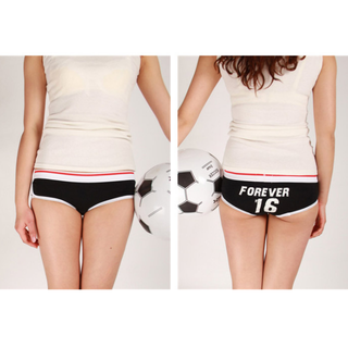 女士內褲 運動風 足球  棉質 透氣 時尚 設計 新穎 潮流 彈性 貼身 舒服 個性 限量 派對