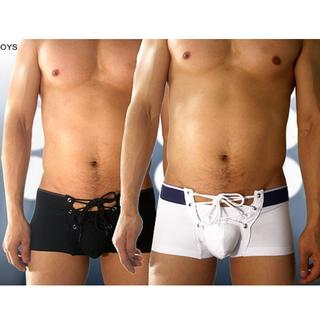 4+PIZ 抽繩 性感 男士內褲 平口褲 型男 棉質 透氣 時尚 設計 新穎 潮流 內褲 彈性 貼身 舒服 個性 限量 派對