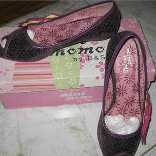 全新『mimimomo』蝴蝶結魚口鞋