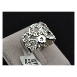 BEAUTIFUL SPARKLING!!! 18K WHITE GOLD PLATED WITH STELLUX AUSTRIANS CRYSTALS RING