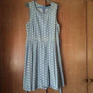 (PL) Dorothy Perkins Polka Dot Denim Dress