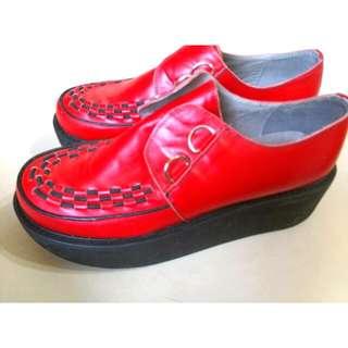 🔴蘿莉紅色厚底鞋🔴