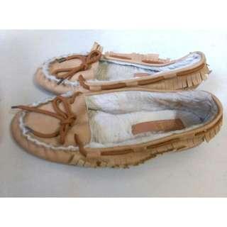 毛毛蝴蝶結包鞋💕