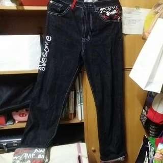 微寬版美式牛仔褲
