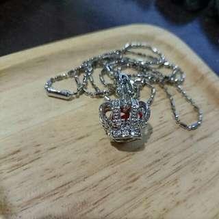 項鍊 - 紅鑽十字皇冠
