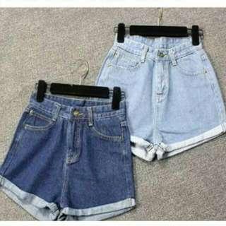 超顯瘦牛仔短褲