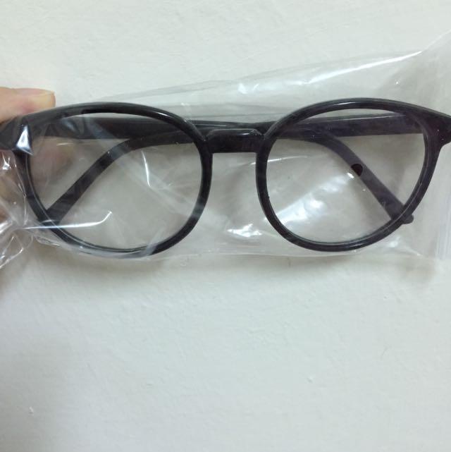 全新-圓框復古眼鏡((有鏡片