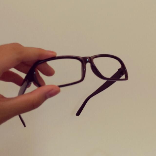 膠框無鏡片眼鏡