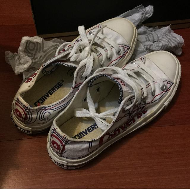 Converse ALLSTAR 白色低筒 帆布鞋 9.9成新 36/22.5cm