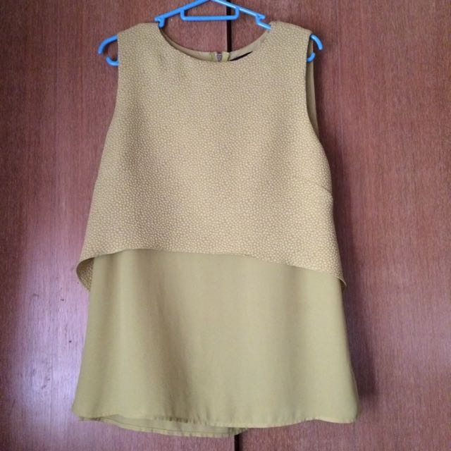 (PL) Warehouse Lime Green Blouse