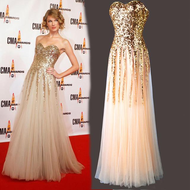 Pre order gold sequin glitter bling taylor swift tube elegant night ...