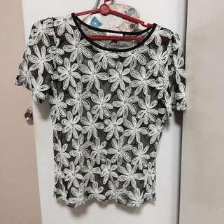 Floral Net Top