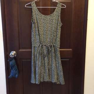 豹紋綁帶洋裝