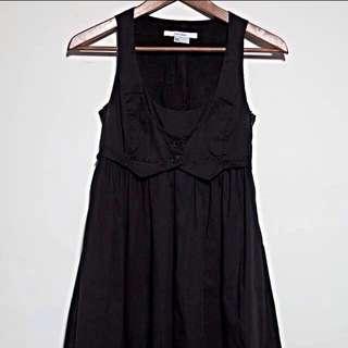 zara黑色綁帶洋裝