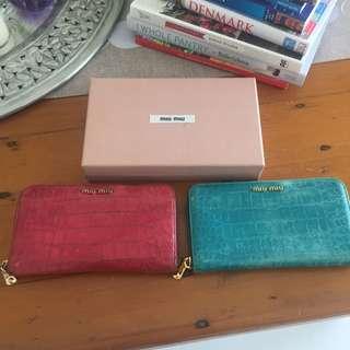 Miu Miu Wallets X 2 Used And One Miu Miu Wallet Box