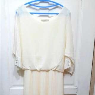 女神感百折長洋裝