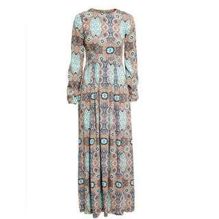 Looking For H&M Long Sleeve Pattern Coachella Dress
