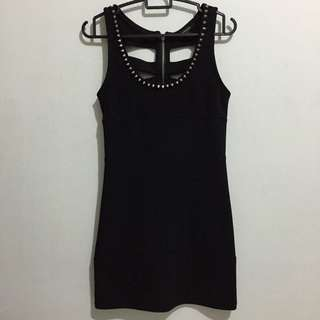Spiked Cut Out Back Dress