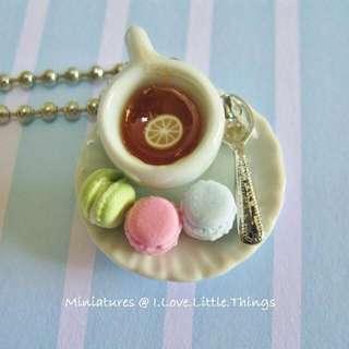 Macarons Tea Necklace