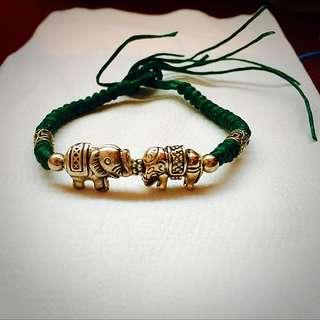 手工純銀蠶絲蠟線-大象