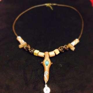 「印第安酋長」極致工藝 手創南美風 真皮項鍊