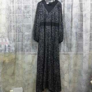 Blue Black Lace Jubah [Reserved]