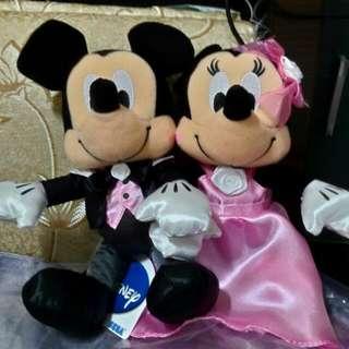 米奇及米妮結婚玩偶