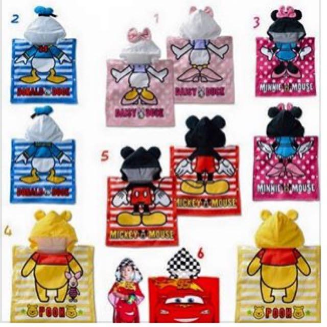 6色卡通造型浴巾