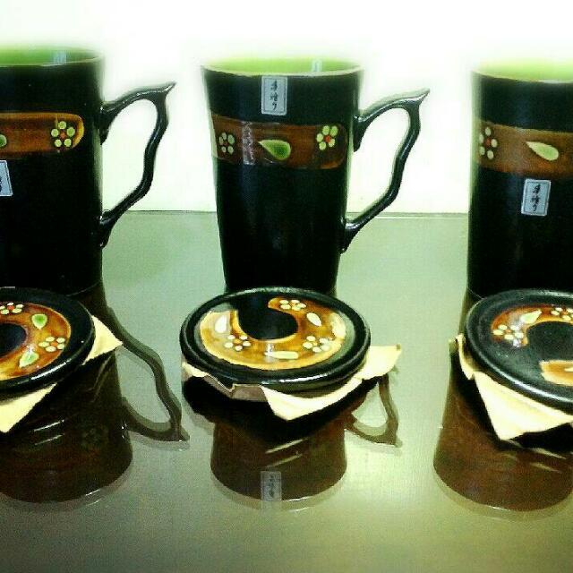 手工藝窯燒彩繪陶瓷杯