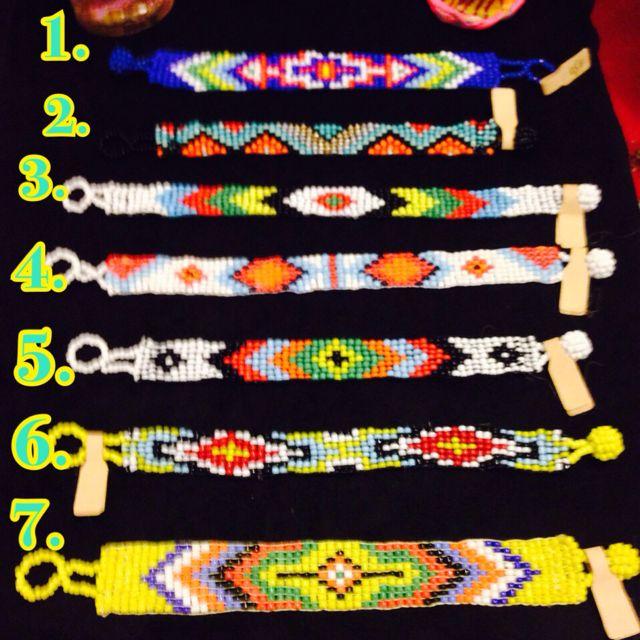 「結緣特價」手創 印第安圖騰排列串珠 中版手環