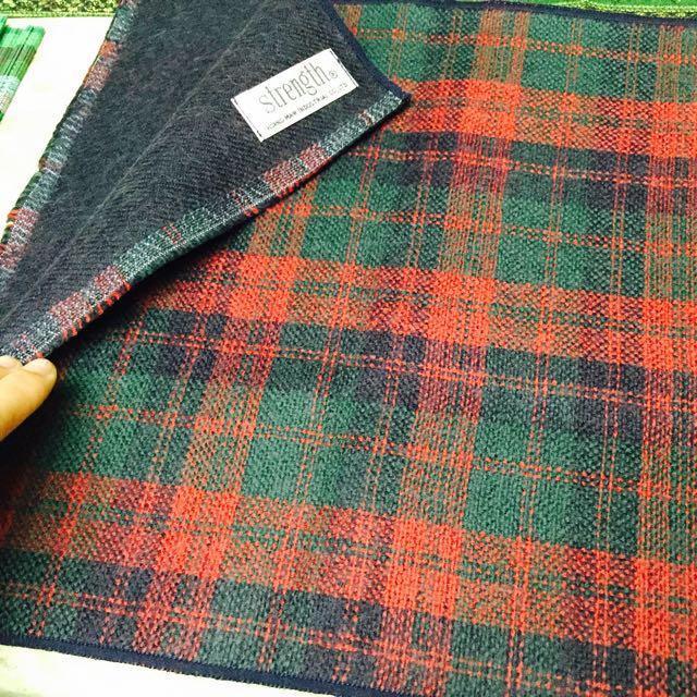 全新 蘇格蘭 格子圍巾