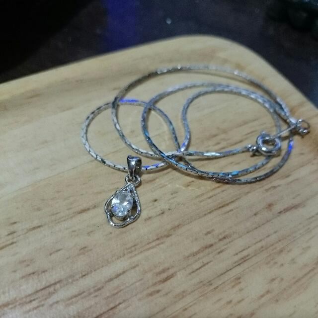 項鍊 - 白色亮鑽單鑽