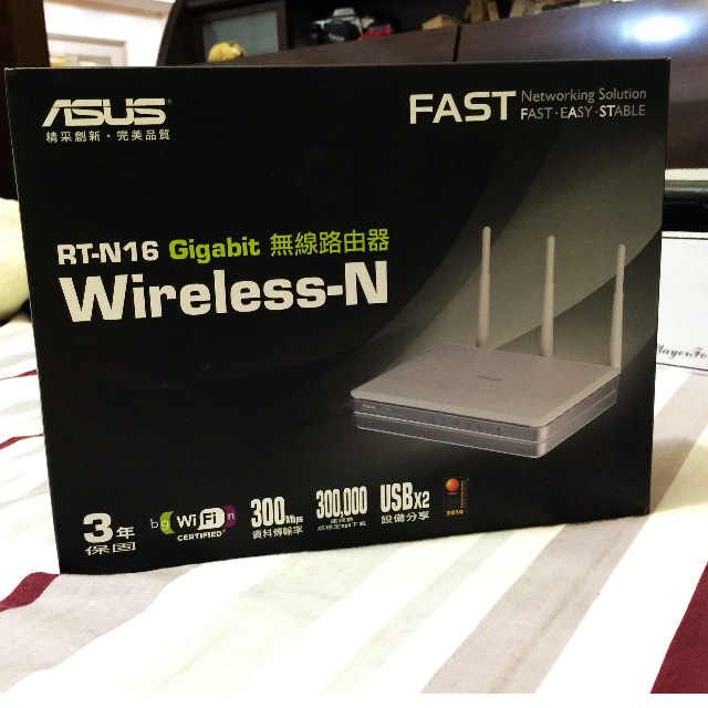 華碩 ASUS RT-N16 300Mbps 無線路由器 還在保固內!DD-WRT、Tomato 刷機樂趣無窮