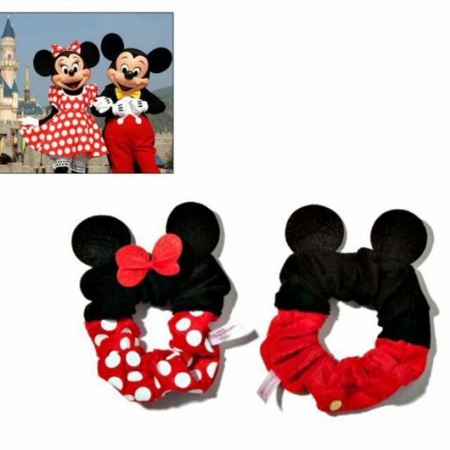 迪士尼 Disney 米奇米妮 立體造型髮圈