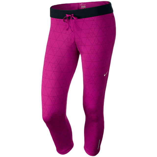 Nike Printed Relay Cropped Womens Running Tights Pink